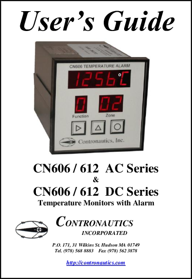 CN606 CN612 Manual, Temperature Scanner, Thermocouple & RTD